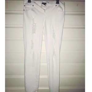 Forever 21 Jeans - 5/$25 Forever 21 white ripped jeans